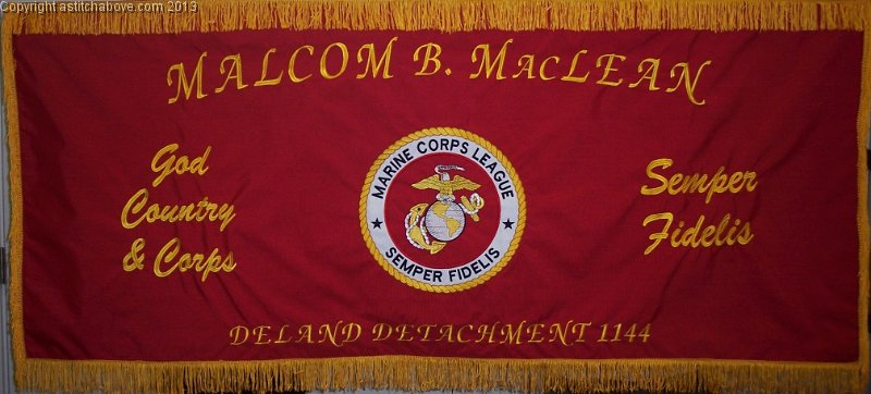 United States Marine Corps League Embroidered Banner