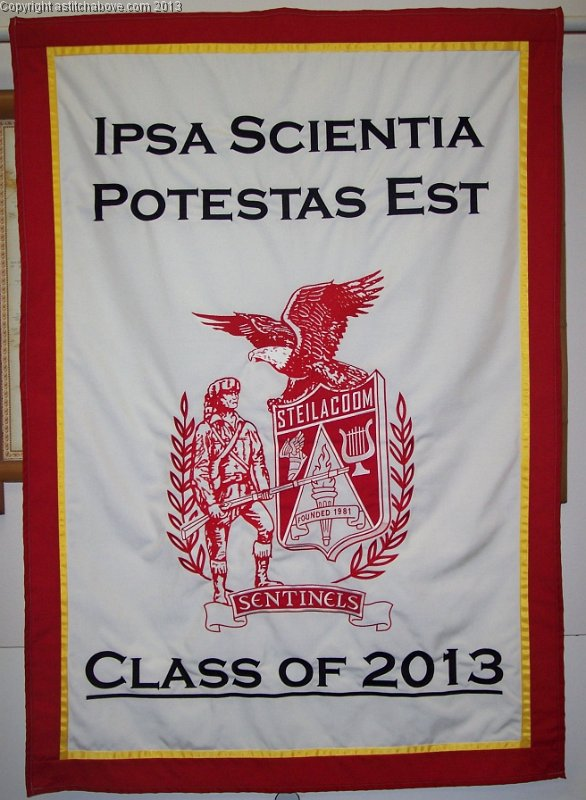 Embroidered Podium Banners
