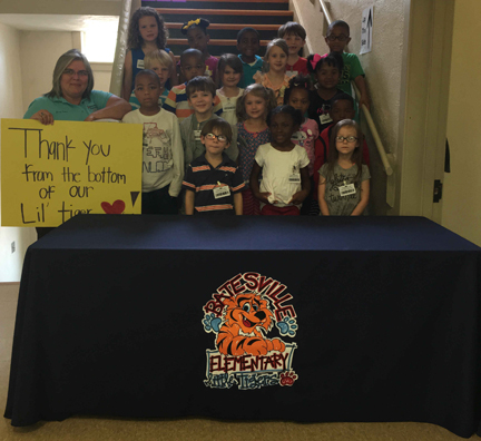 Batesville Elementary School loves their tablecloth!
