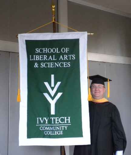 Ivy Tech Community College Graduation Embroidered Banner