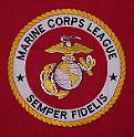 Embroidered table skirts and wall banners for the Army, Navy, Marines and Coast Guard