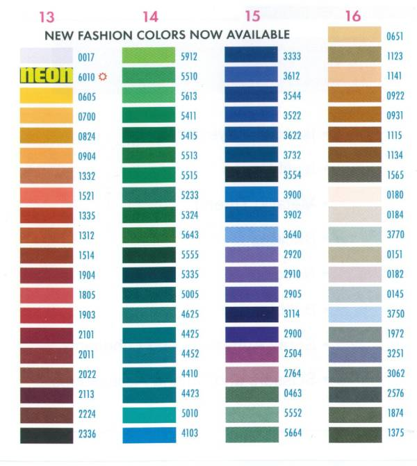 Brother Embroidery Color Chart Choice Image Free Charts References